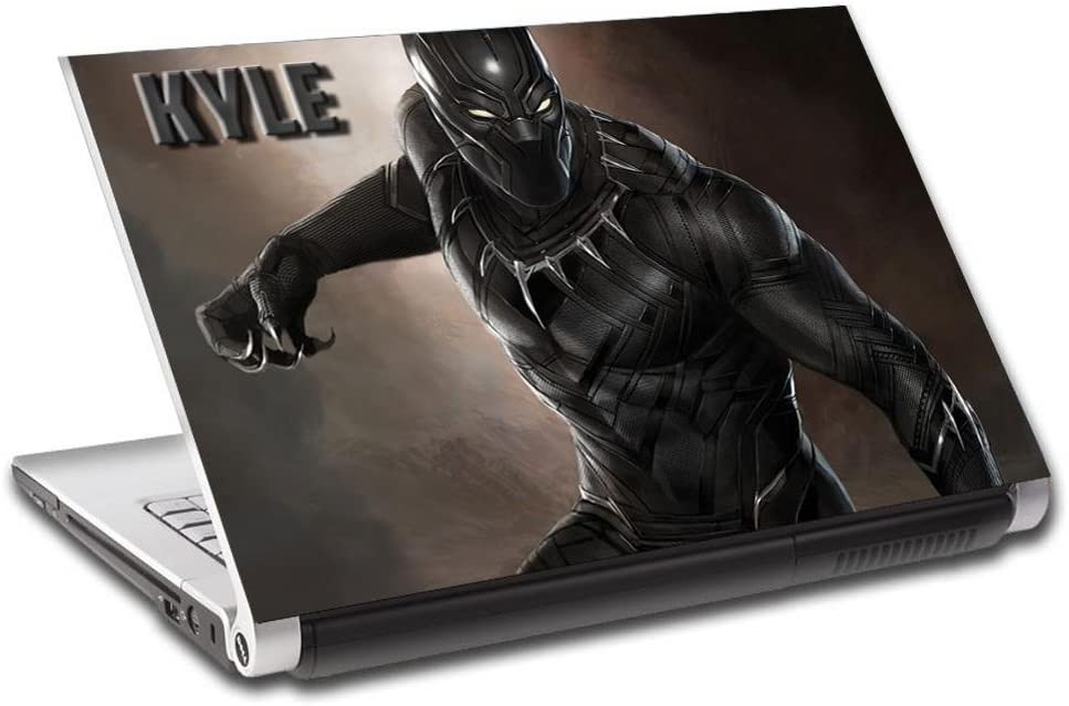 """Black Panther Captain America Personalized LAPTOP Skin Vinyl Decal Sticker L218, 17"""""""