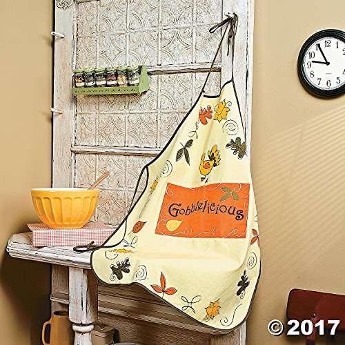 Adult Thanksgiving Apron,Fall, Autum, Turkey, Leaves, (Apron Thanksgiving)