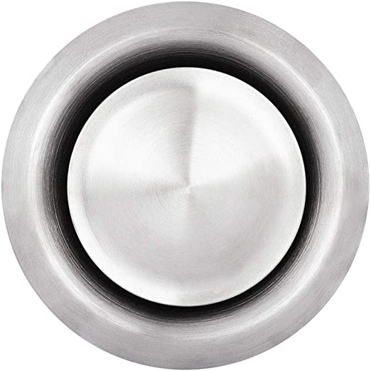 /Ø 125mm Abluftventil Zuluftventil Zuluft Abluft Edelstahl wei/ß Tellerventil