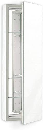Robern PLM1630G Polished Edge, Classic Gray Interior Non-Handed PL Series 16 x 30 Flat Top Cabinet