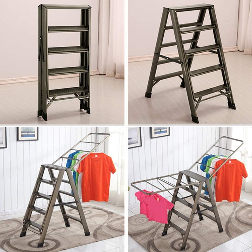 Liuwenan Escalera Plegable Escalera Multifuncional de aleación de Aluminio para Pisos de Espesamiento Interior Escalera de Doble Uso Escalera doméstica (Color : Gold, Size : 85 * 50 * 98CM): Amazon.es: Hogar