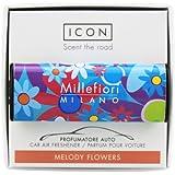 Millefiori Milano, Deodorante per Auto Car Air freshener Icon, Linea Cuori e Fiori, fragranza Melody Flowers, codice Articolo 16CAR06