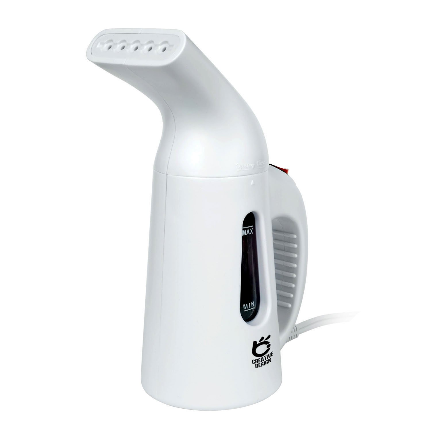CREATIVE DESIGN Garment Steamer, Handheld Portable Fabric Steamer, Mini Fast Heat-up Steamer for Home and Travel (White)
