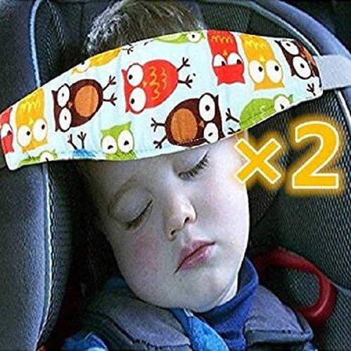 aoxintek 2süße Eulen Kleinkinder Kleinkinder und Baby Head Support Kinderwagen Buggy Sicherheit Sitz Verschluss Gürtel Verstellbarer Laufgitter Sleep Positionierer Aoxintech