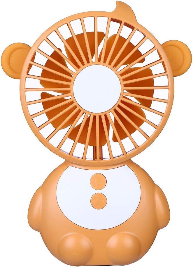 YBBZJ Ventilador Portátil De Lámpara De Mesa Monkey Elf Ventilador De Carga USB Ventilador De Dibujos Animados Lámpara De Mesa 2 En 1 Ventilador De Mano: Amazon.es: Hogar