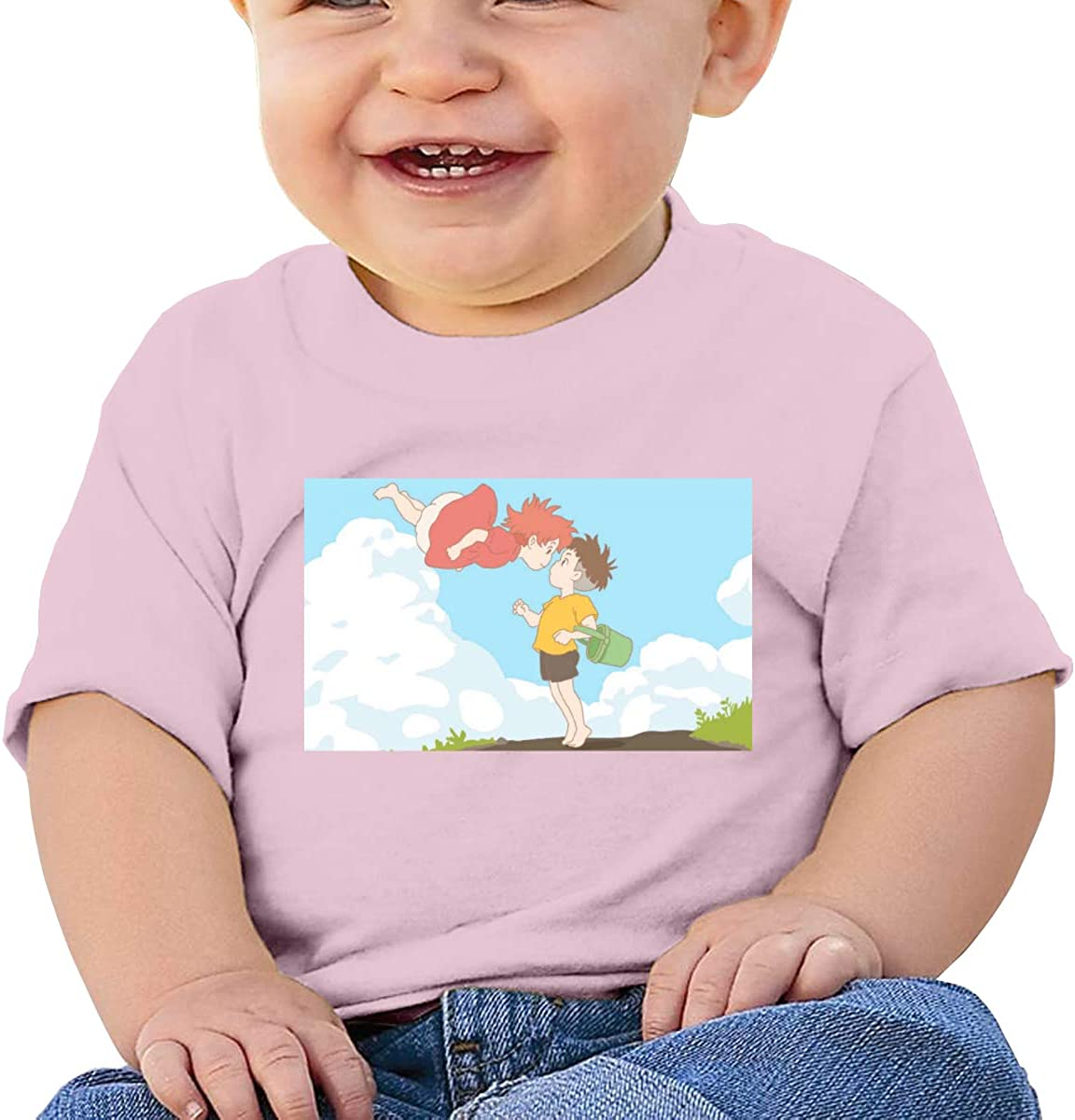 EVE JOHN Ponyo On The Cliff Tee Breathable T Shirt for Baby Boy Black