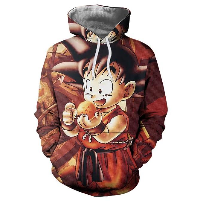 Dragon Ball Goku Sudadera con Capucha 3D Impresión Pullover Sudaderas De Tendencia Hoodie Sweatshirt de Mangas Largas Bolsillos Unisex Cosplay,Manga,Dibujos ...