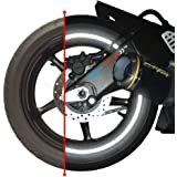 """customTAYLOR33 (All Vehicles) Black Engineering Grade Reflective Copyrighted Safety Rim Tapes (Must select your rim size), 17"""" (Rim Size for Most SportsBikes)"""
