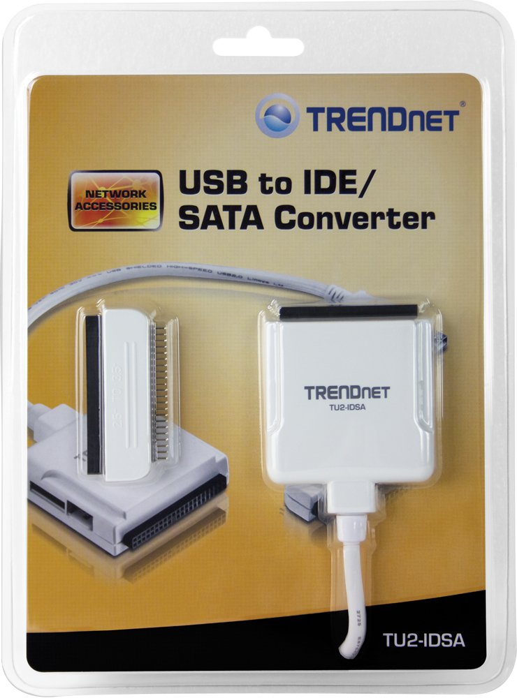 TRENDNET TU2-IDSA USB TO SATAIDE CONVERTER ADAPTER DRIVERS FOR WINDOWS XP