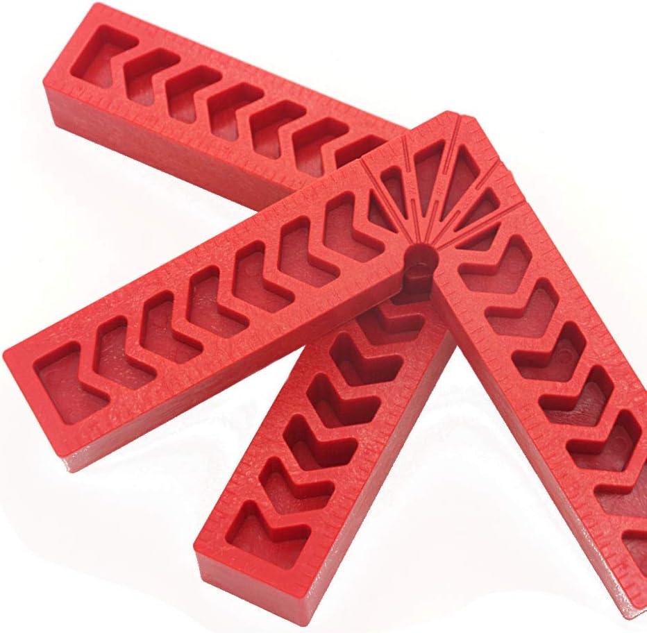 4 Pollici Zasiene Morsetto ad Angolo Retto 4 Pezzi Morsetto di Posizionamento a 90/° Plastica Righello di Angolo Retto Tipo L Quadrati Posizionamento per Strumento di Posizionamento Ausiliario