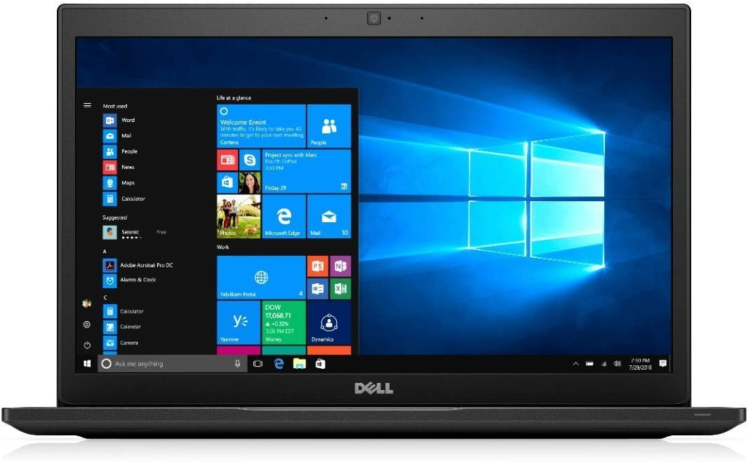 Dell Latitude 7000 Series 7490 Business Ultrabook | Intel 8th Gen i7-8650U Quad Core | 16GB DDR4 | 512GB SSD | Win10Pro (Renewed)