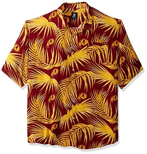 - NFL Mens Floral Shirt: Washington Redskins, Large