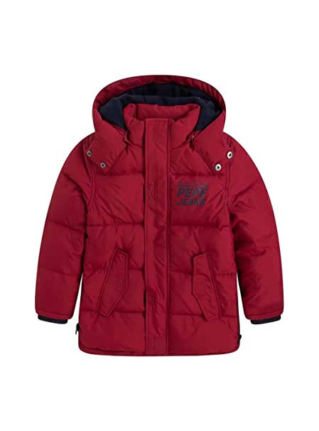 Pepe Jeans Abrigo Charles Jr Rojo 18 Rojo
