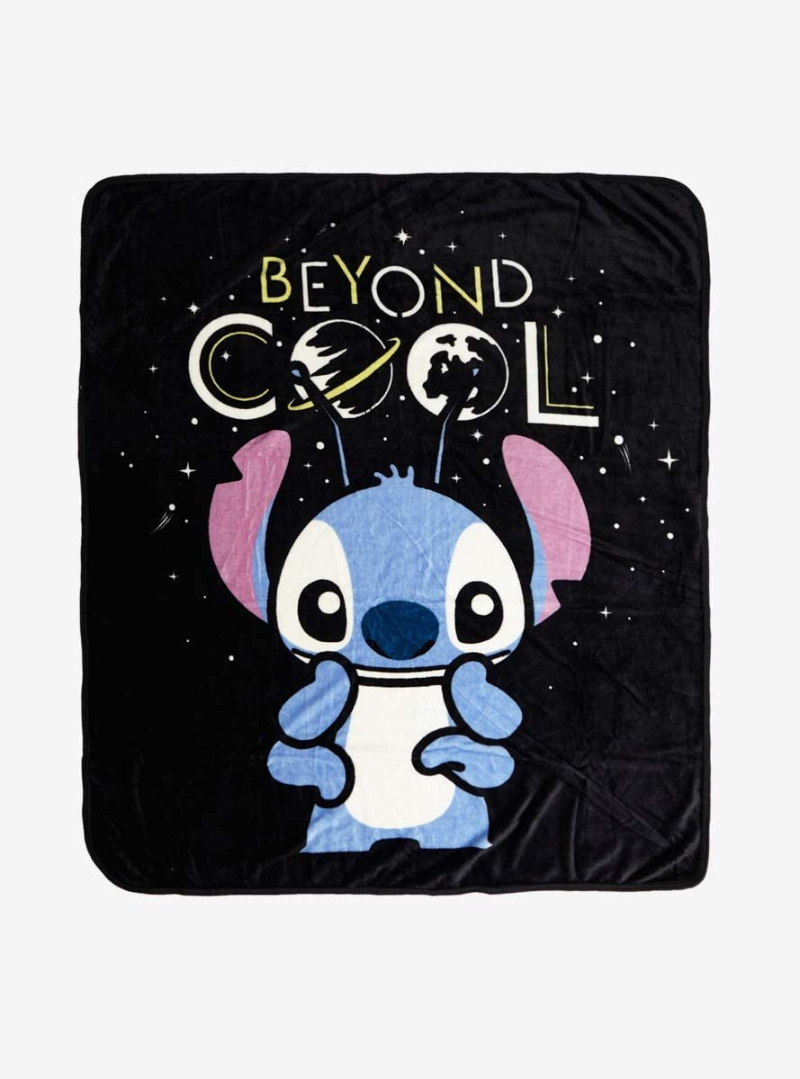 Hot Topic Disney Lilo & Stitch Beyond Cool Plush Throw Blanket