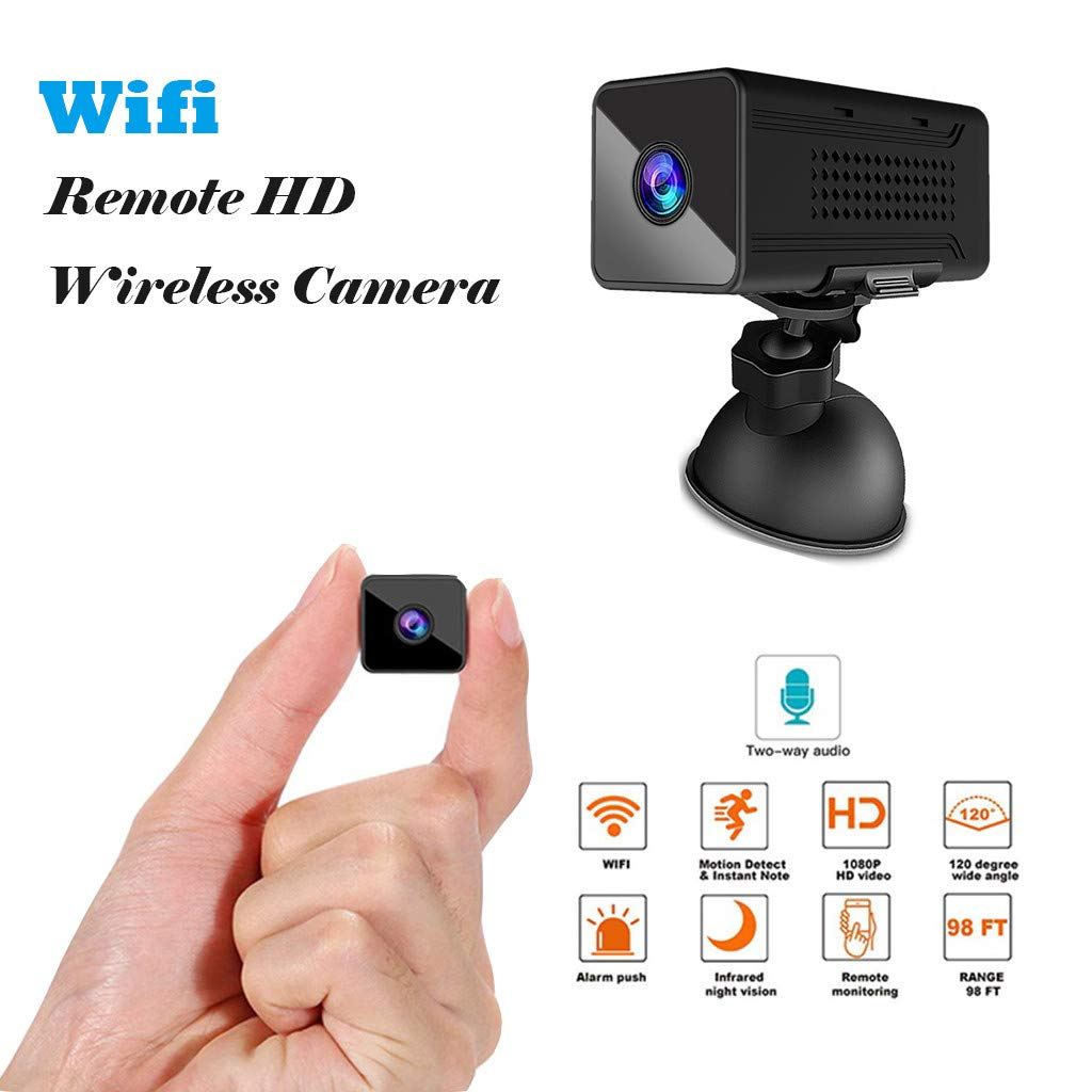 Wabaodan Ultra Long Night Vision Mini Webcam 1920PX1080P HD Wifii Remote HD Wireless Camera by Wabaodan (Image #2)