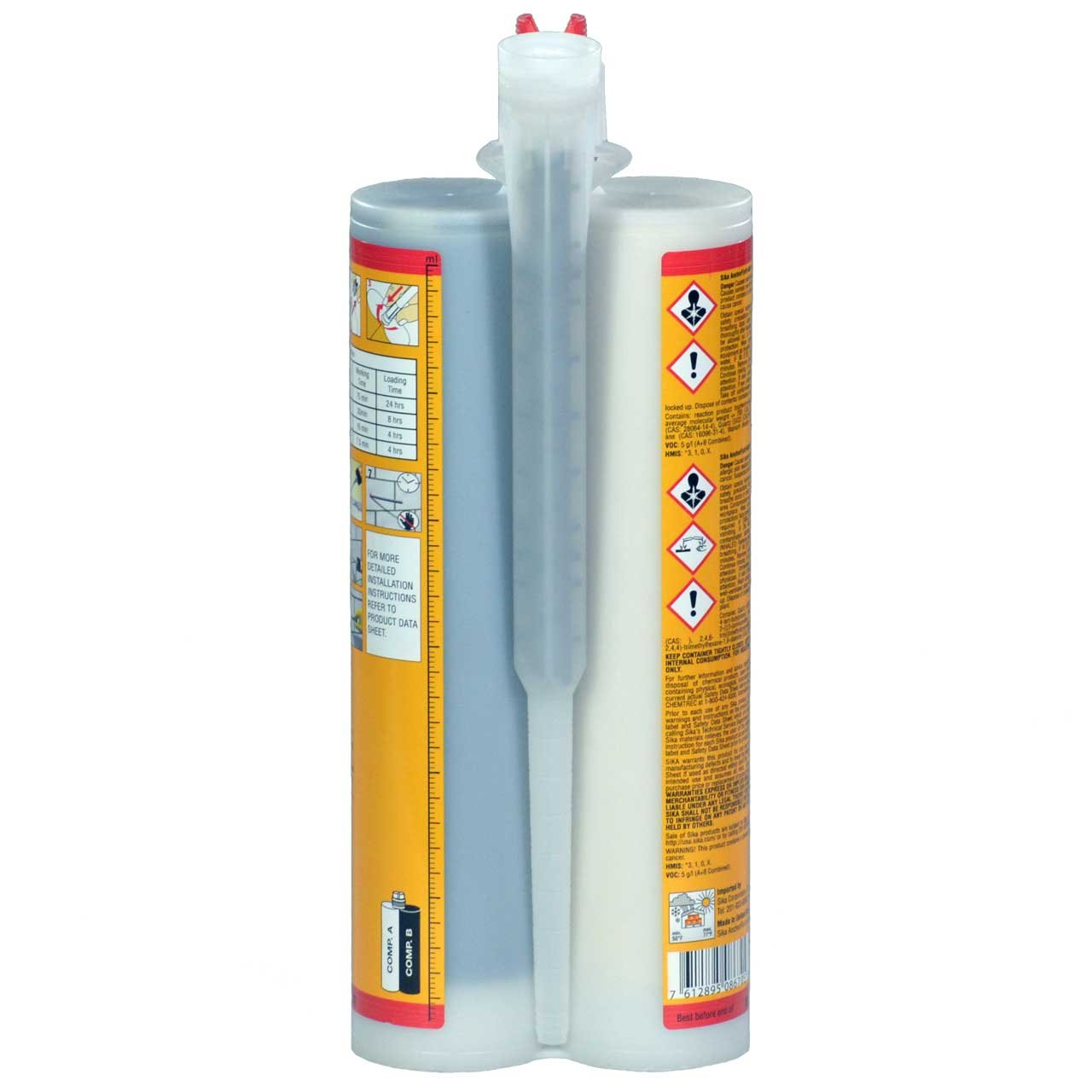Epoxy Adhesive Applicator, 22 oz. Dual Cartridge Capacity, 25:1 Thrust, AWF Pro with 1 Cartridge, Sika AnchorFix 500: 20 oz Two Component Epoxy, High Performance, Concrete Anchoring System by Sika (Image #4)