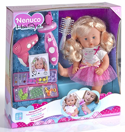Famosa 700012385–Kit de peluquería Nenuco con secador, Cepillo de Pelo y Accesorios, 42cm