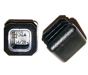 """3/4"""" Square TUBING END Cap Plug - Quantity of 8"""