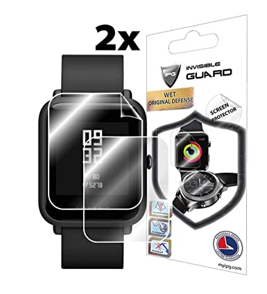 for XIAOMI HUAMI AMAZFIT BIP (2X) Smartwatch Screen Protector Invisible Ultra HD Clear Film Anti Scratch Skin Guard - Smooth/Self-Healing/Bubble -Free ...