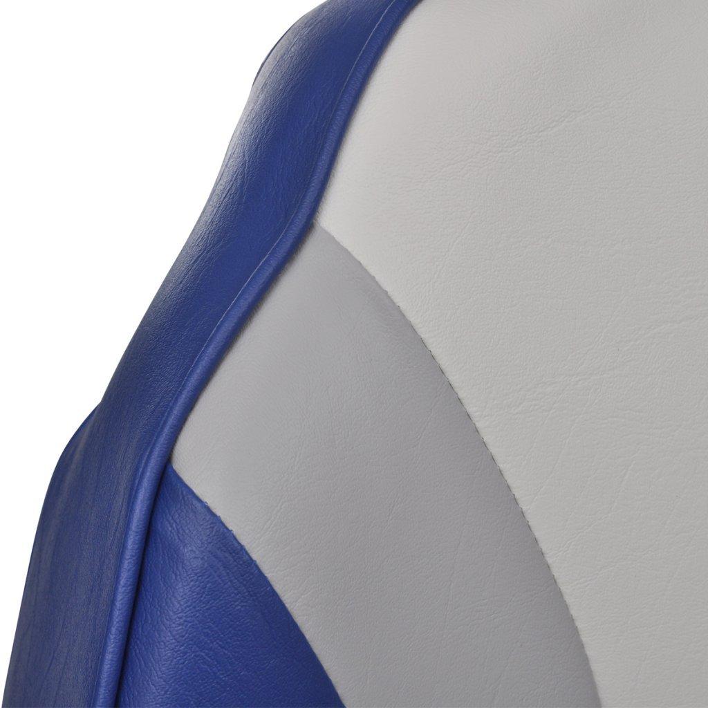 43x39,4x59,7 cm Color de Azul y Blanco Festnight Asiento Plegable con Respaldo Alto para Embarcaci/ón