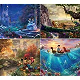 Ceaco Thomas Kinkade The Disney Collection 4 in 1 Multipack Cinderella, The Lion King, Mickey and Minnie Mouse, The…