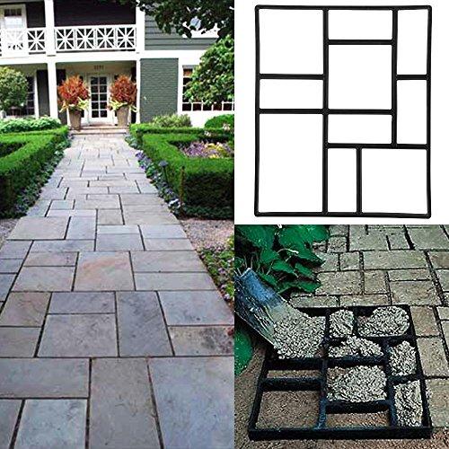 Topeakmart Concrete Paving Stepping Stone Mold Path Walk Maker, Rectangular Patterns, 23.8