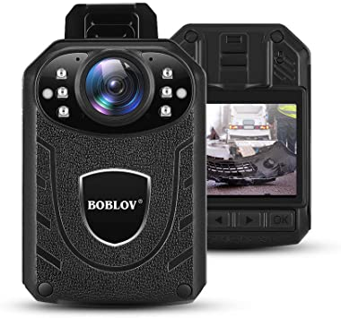 with 128G TF Card BOBLOV 1296P Body Wearable Camera Support Memory Expand Max 128G Lightweight and Portable Easy to Operate KJ21