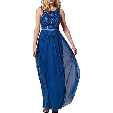 TAOST Royal Blue Evening Dresses Long Women Sequin Graduation Party Gowns Fast Shipping (Royal Blue