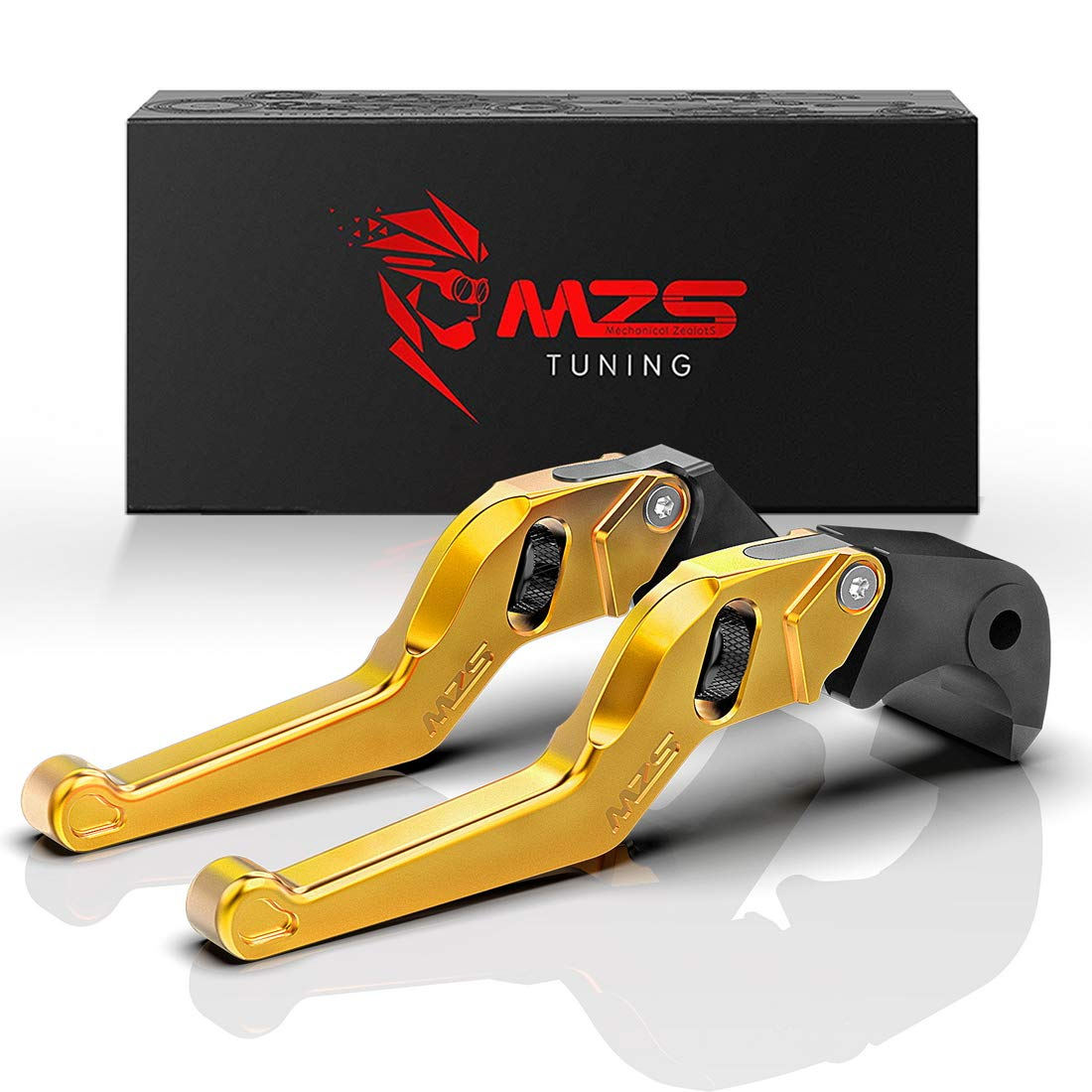 MZS Gold Short Levers Wheel Roller Brake Clutch Adjustment for CMX 300 500 Rebel Fury VTX1300CX VT750 Phantom Shadow NC750S NC750X Black Spirit