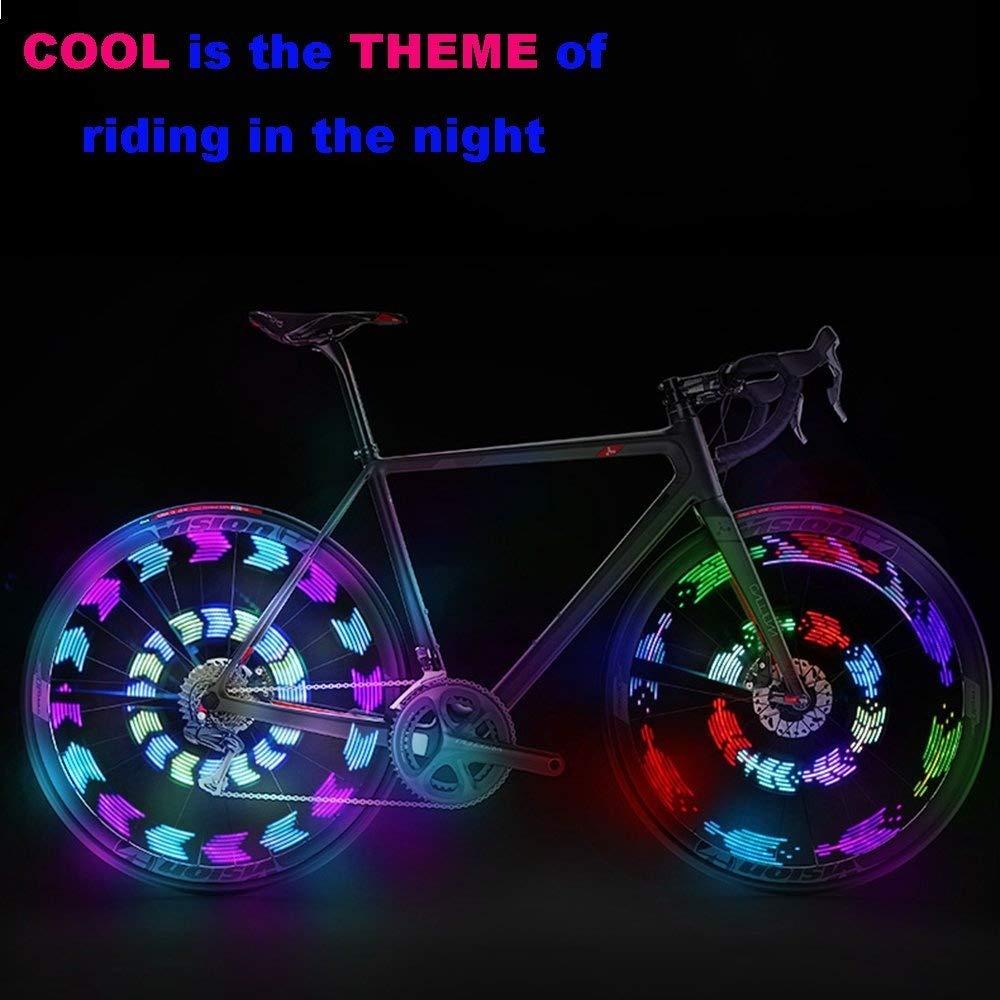 Bike Wheel Lights 14LED Spoke Light for Night Riding 30 Different Patterns