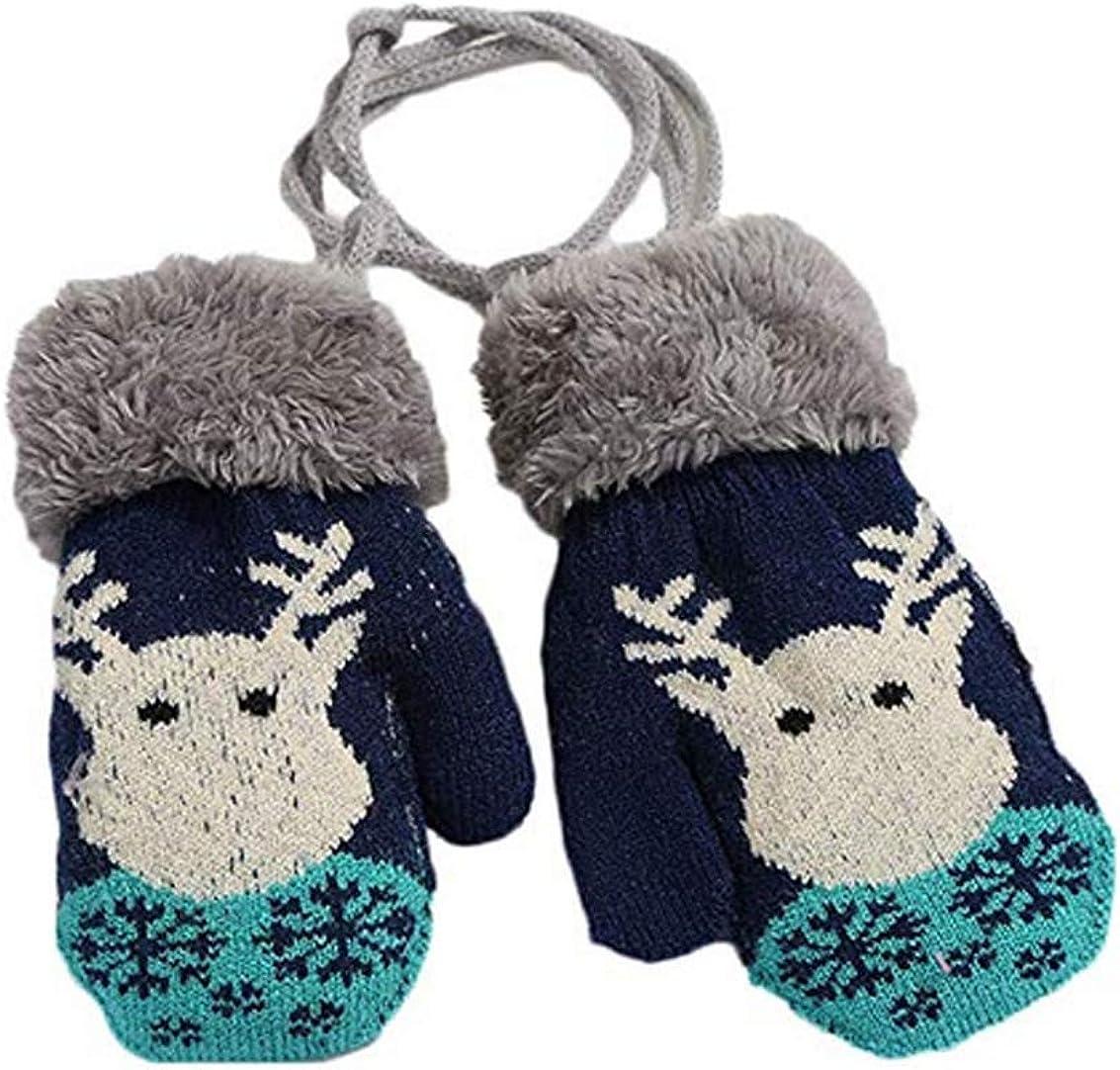 Girl Boy Child Winter Gloves Stretchy Splice Knitted Mittens Newborn Baby Kid
