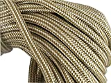 Gold Double Braid Nylon Rope, 3/8 Inch (300')