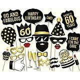 Veewon La 60.a tienda de la foto de la fiesta de cumpleaños apoya el kit unisex de 34pcs DIY conveniente para él o la suya 60.a celebración del cumpleaños