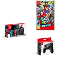Nintendo Switch Neon with Super Mario Odyssey + Pro Controller