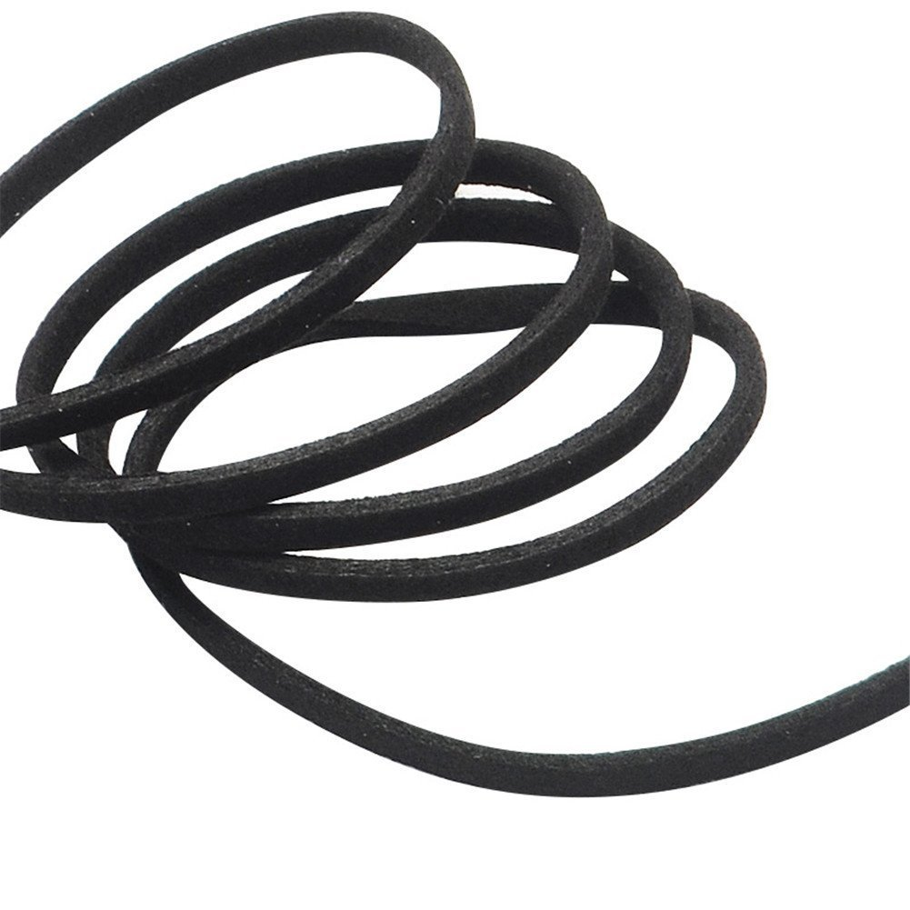 Black T/&B 3mm Faux Suede Cord Flat Lace Leather String 100 yd//roll Jewelry Making
