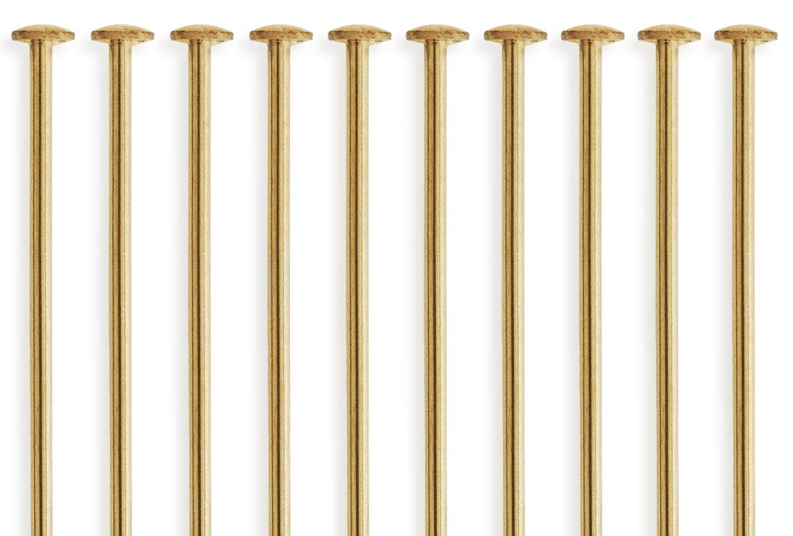 20 Pieces 14Kt Gold Filled Head Pins 22 Gauge 3 inch houseofgems 4336829446