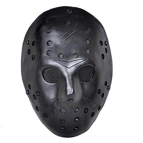 CCOWAY Disfraz Prop, Máscara de Jason Voorhees Freddy Hockey Festival, Halloween, Fiesta,