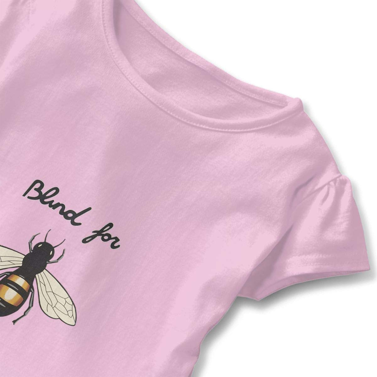 Bee Happy Super BEE Pink 2-6 T Toddler Baby Girls 100/% Cotton Short Sleeve T Shirt Top Blouse Tee Clothes
