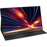 WMWHALE Monitor de viagem tipo C de 13,3 polegadas para laptop, monitor 800:1 com tela Full HD 1920 x 1080 IPS, alto-falante