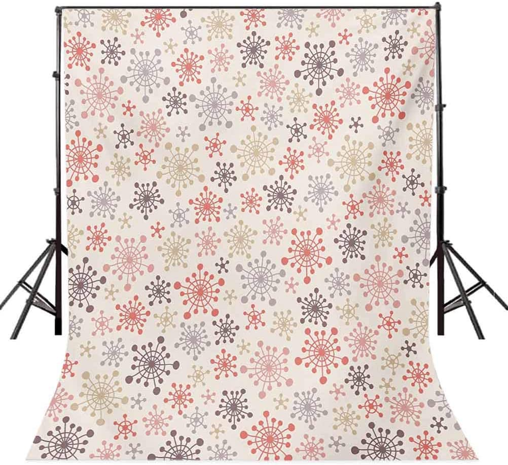 Flower 8x10 FT Backdrop Photographers,Tropical Watercolors Vivid Lively Lily Flower Figures Wild Nature Plants Image Background for Photography Kids Adult Photo Booth Video Shoot Vinyl Studio Props