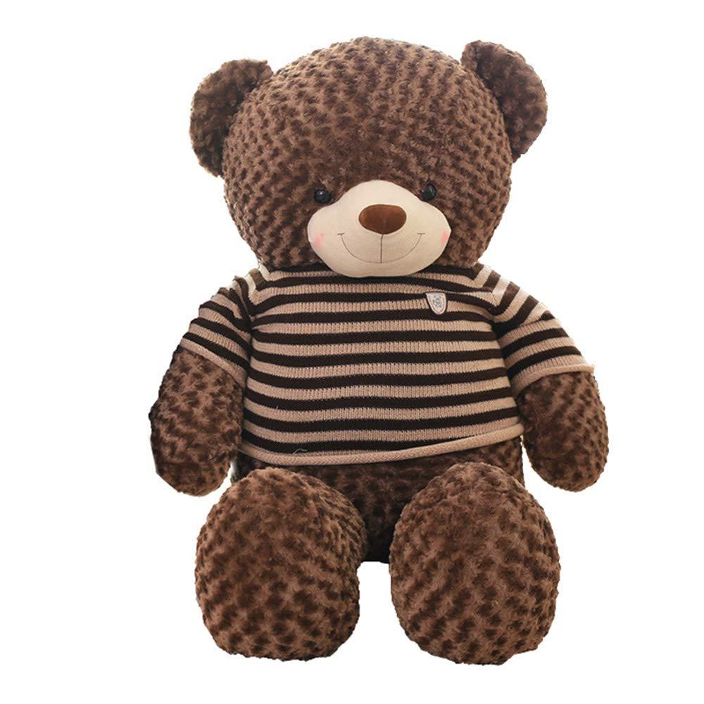MISJIA Plush Toy Valentinstag, Urlaub, Geburtstagsgeschenk Umarmung Bär Puppe, 60/80/80/100/120/160/180cm Braunbärenpuppe großen Teddybären Fyxd,80cm