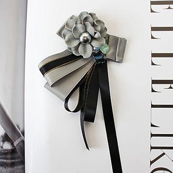 ZLYAYA,corbata,pajarita,Broche de proa collar de la camisa negra ...
