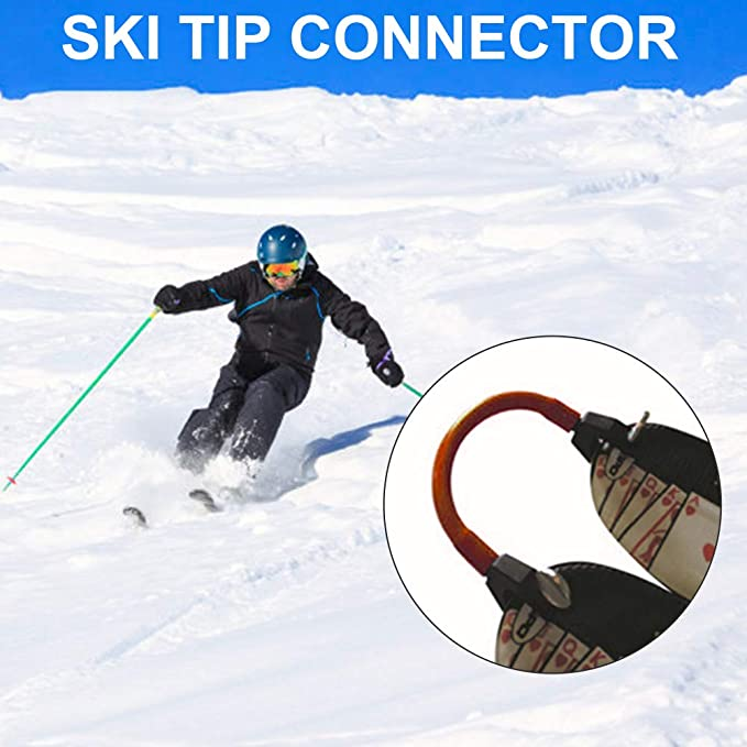 Random Color BESPORTBLE 2pcs Ski Tip Connector Ski Training Wedge Aid Snow Ski Training Tools for Winter Training Skiing Beginners