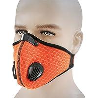 Máscara a prueba de polvo, anticontaminación, máscara antipolvo de carbono con válvulas de filtro extra, perfecta para gas de escape, alergias, asma, PM2.5, correr, ciclismo, actividades al aire última intervensión