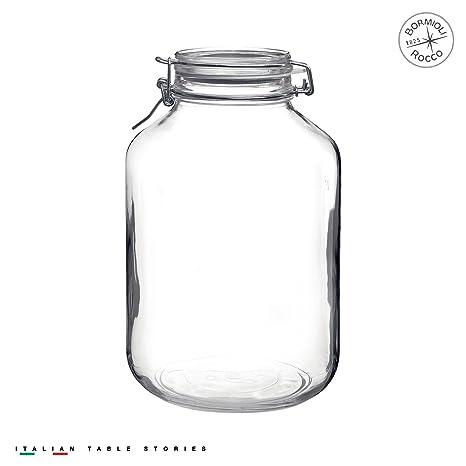 Amazon Com Bormioli Rocco Fido Clear Jar 169 Oz Kitchen Dining
