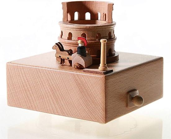HMBYYHK5 Cajas Musicales Preciosa Caja Musical de Madera de Calidad con Coliseo con Carro móvil pequeño, Caja de música, for niños y Amigos  Reproduce la canción The Moment Caja Musica Manual: Amazon.es: