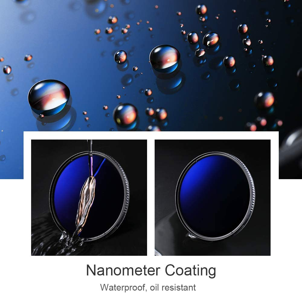 K/&F Concept 82mm Neutral Density Filter ND 8 Filter and CPL Circular Polarizing Filter 2 in 1 for Camera Lens Multi-Resistant Coating,Ultra Clear Scratch-Resistant Waterproof