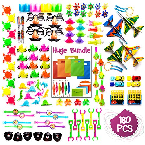 Imagine's 180PCS Carnival Prizes & Party Bags BUNDLE: Party Favors