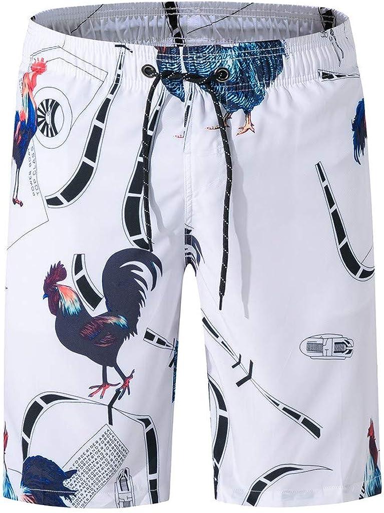 Mens Swim Trunks Fashion Board Shorts Bathing Suits Elastic Waist with Pocket Drawstring M-XXXL