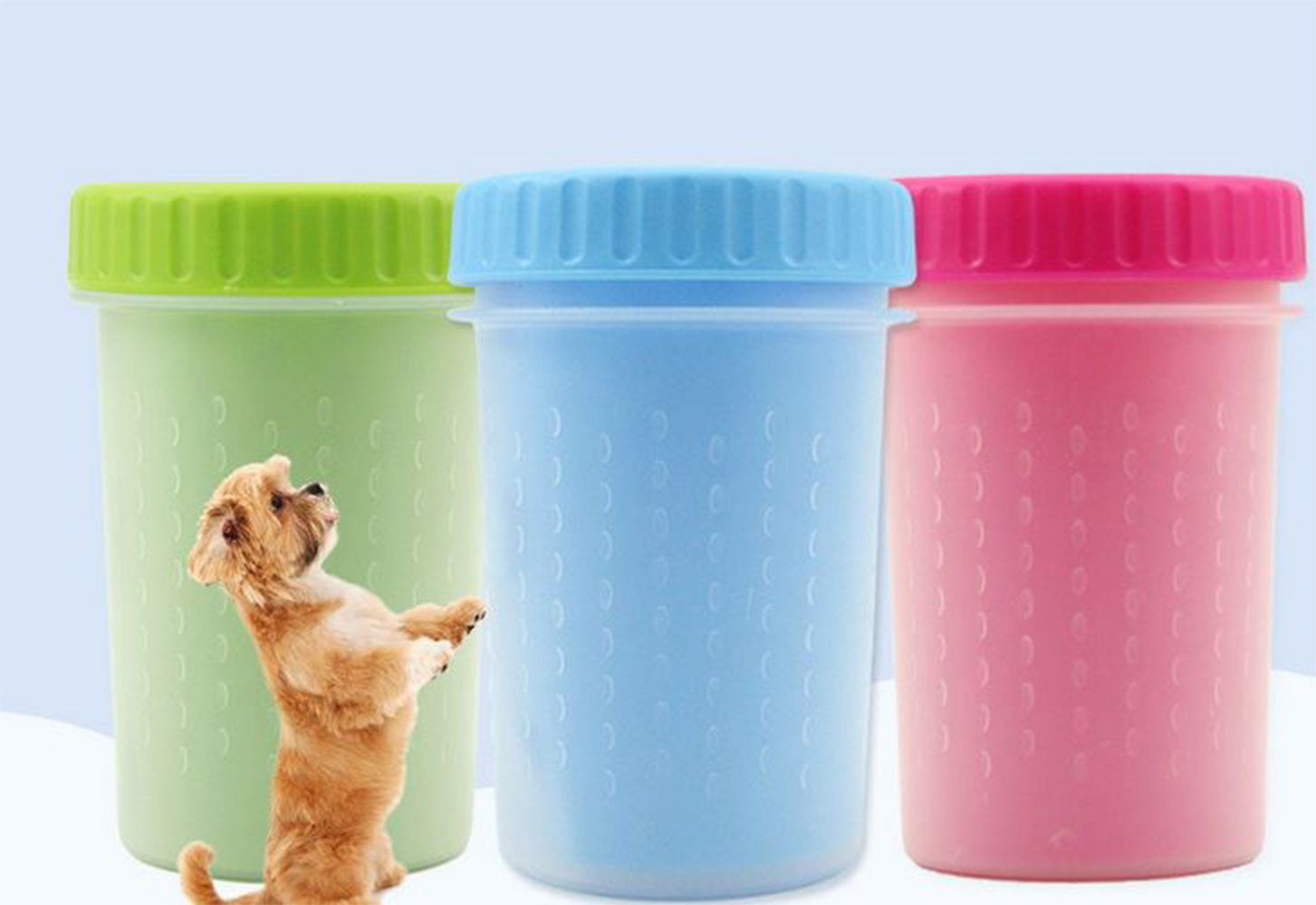 Pet Dog Portable Paw Cleaner Foot Washer Cup Outdoor Mud Washing Foot Nursing Dirt Buster (Large, Green) ZhangK